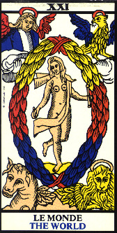 The World card of the Marseilles Tarot